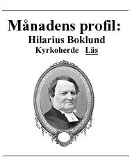 Hilarius Boklund  Kyrkoherde